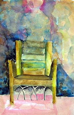 Westminster Abbey Painting - Westminster Abbey Queen Chair by Mindy Newman