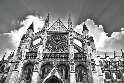Westminster Abbey Digital Art - Westminster Abbey Under The Clouds And Rays by Mihaela Pater
