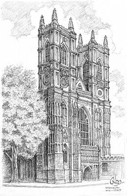 Westminster Abbey Drawing - Westminster Abbey by Vlado Ondo