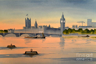 Westminster And Big Ben  Art Print by Bill Holkham
