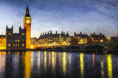 Photograph - Westminster Bridge And Big Ben Art by David Pyatt