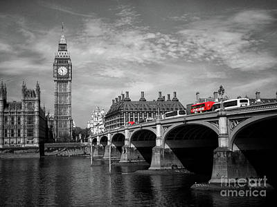 Photograph - Westminster Bridge And Big Ben London by Lynn Bolt