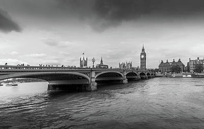 Westminster Bridge And The Houses Of Parliament  Art Print by Georgia Fowler