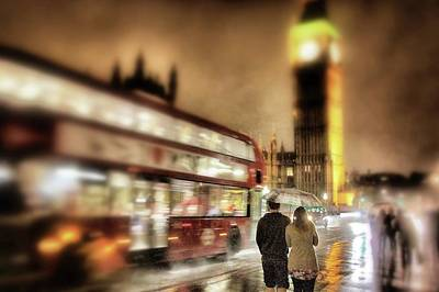Photograph - Westminster Bridge In Rain by Jim Albritton