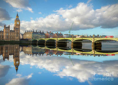 Westminster Bridge London Art Print by Adrian Evans
