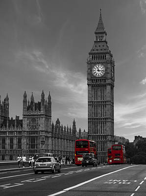 The Clock Photograph - Westminster Bridge by Martin Newman