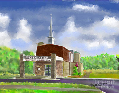 Digital Art - Westminster Church by Dale Turner