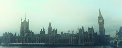 The Clock Photograph - Westminster Fog by Martin Newman