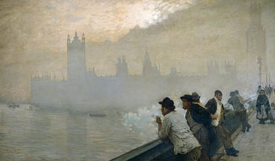 English Scene Painting - Westminster by Giuseppe de Nittis