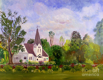 Plein Air Painting - Westmore Church by Donna Walsh