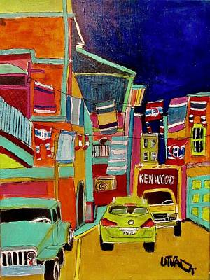 Painting - Westmount Backlane Washday by Michael Litvack