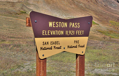 Photograph - Weston Pass by Tony Baca
