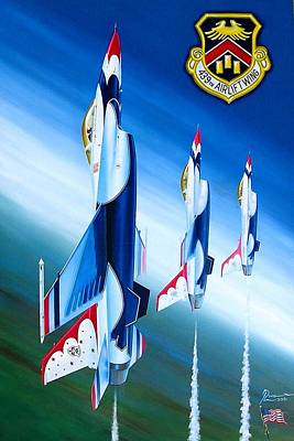 Retro Wall Art - Painting - Westover Salute by Peter Ring Sr