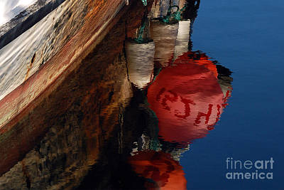 Photograph - Bouy Reflection by Chuck Flewelling