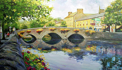Old Wall Painting - Westport Bridge County Mayo by Conor McGuire