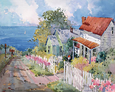 Cottage Garden Painting - Westport By The Sea by Joyce Hicks