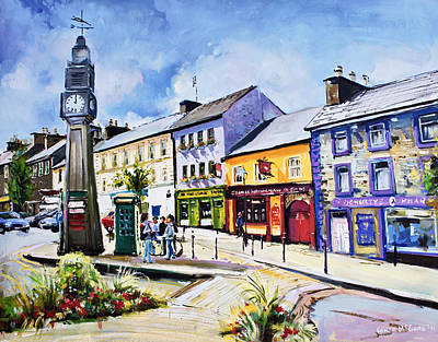 Mayo Painting - Westport Clock County Mayo by Conor McGuire