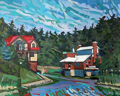 Grist Mill Painting - Westport Cove by Phil Chadwick