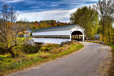 Music Royalty-Free and Rights-Managed Images - Westport covered bridge by Jack R Perry