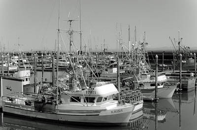 Photograph - Westport Docks Black And White by Tikvah's Hope
