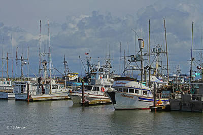 Digital Art - Westport Fishing Fleet by Tom Janca