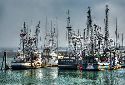 Photograph - Westport Fishing Fleet - Washington Coast by Greg Sigrist