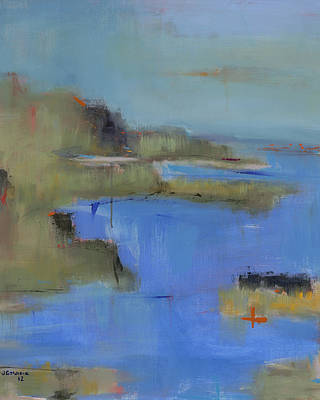 Cape Cod Painting - Westport River Cropped by Jacquie Gouveia