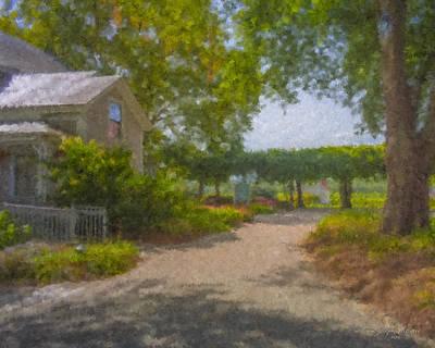 Painting - Westport Rivers Vineyard Entrance by Bill McEntee