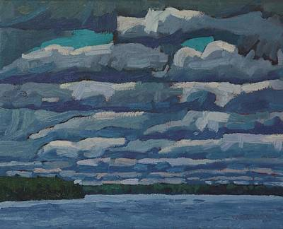 Tom Thomson Painting - Westport Stratocumulus Virga by Phil Chadwick