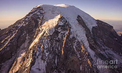 Photograph - Westside Aerial View Of Mount Rainier by Mike Reid