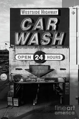 Photograph - Westside Highway Car Wash Nyc by Edward Fielding