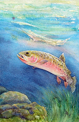 Westslope Cutthroat Art Print by Gale Cochran-Smith