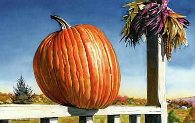 Pumpkins Painting - Westtown Pumpkin by Tom Hedderich