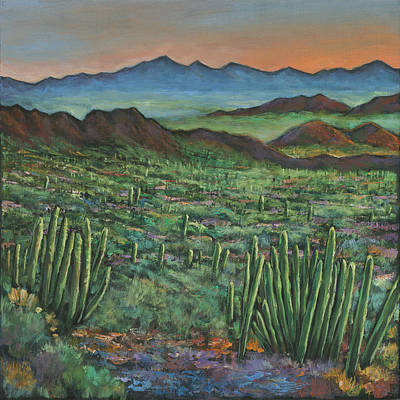 Arizona Desert Painting - Westward by Johnathan Harris