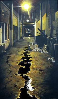 Wet Alley Original by Elaine Booth-Kallweit