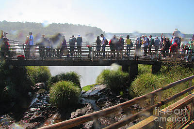 Photograph - Wet And Crowded At The Devil's Throat by Nareeta Martin