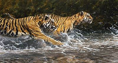 Painting - Wet And Wild by Alan M Hunt