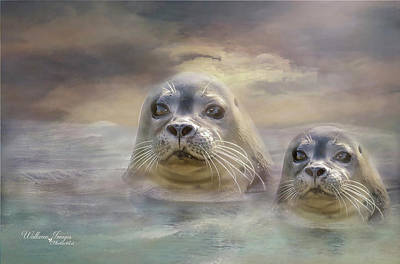 Aquatic Life Digital Art - Wet And Wild by Wallaroo Images