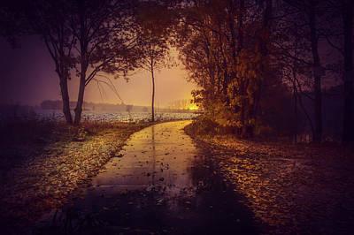 Photograph - Wet Autumn Morning by Manuel Baumheier