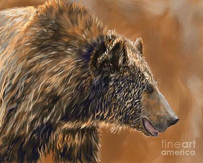 Wet Bear Art Print