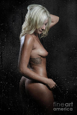 Washing Hair Photograph - Wet Blonde by Jt PhotoDesign