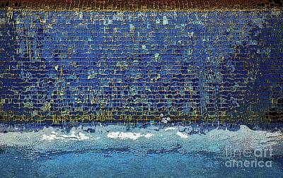 Photograph - Wet Blue Wall Abstract by Craig Wood