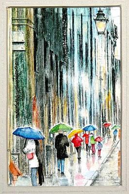 Painting - Wet Day In Paris. by SJV Jeffery-Swailes