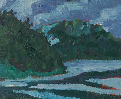 Painting - Wet Evening On The Dumoine by Phil Chadwick