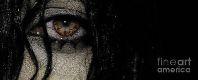 Person Photograph - Wet Eye 5 by Prar Kulasekara