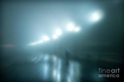 Wet Foggy Night Print by John Greim
