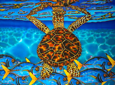 Painting - West Indian Hawksbill Sea Turtle by Daniel Jean-Baptiste