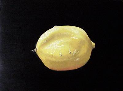 Painting - Wet Lemon by Maria Mills