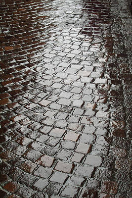 Photograph - Wet Lucca Street by Michael Flood
