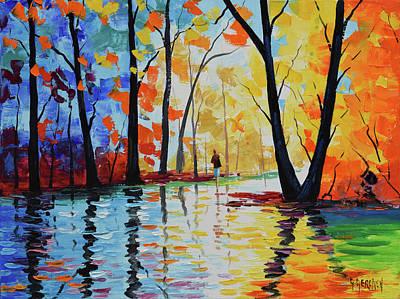 Fine Artwork Painting - Wet Night by Graham Gercken